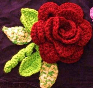 Red Rose Crochet-