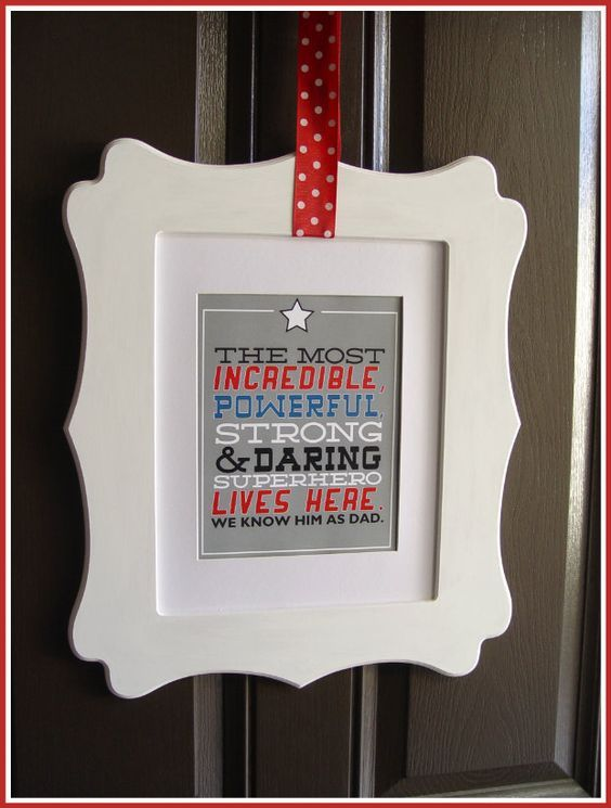 Printables for Fathers Day | Create a quick wall hanging for Fathers Day or shrink down for a fun card.