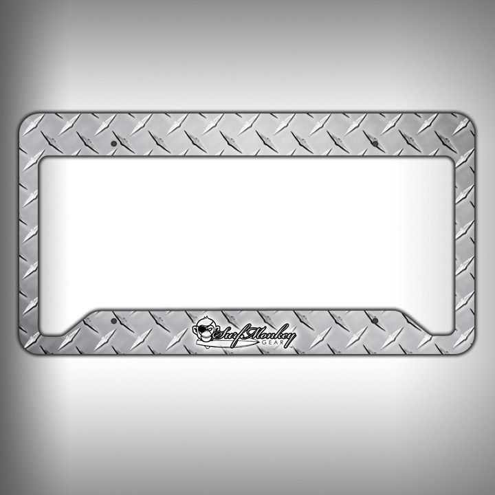 Diamond Plate Custom Licence Plate Frame Holder Personalized Car ...