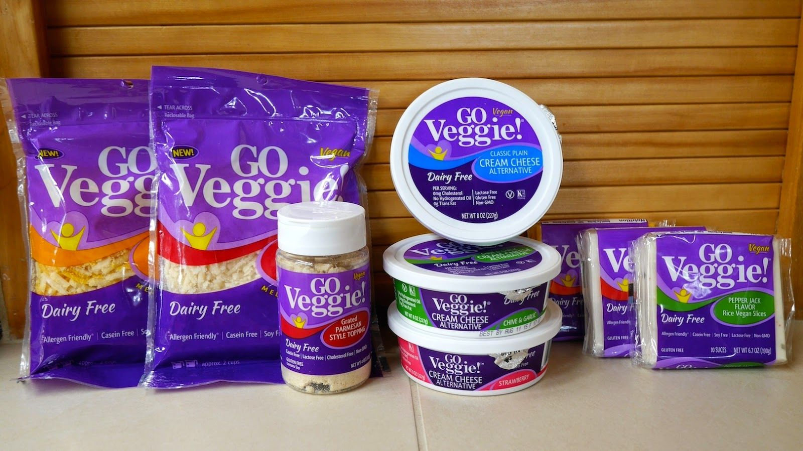 Review Of Go Veggie Vegan Cheese Productsshreds Cream Cheese Slices Parm Toppingcompare To Daiya And Tofutti Go Veggie Tofutti Vegan Cheese