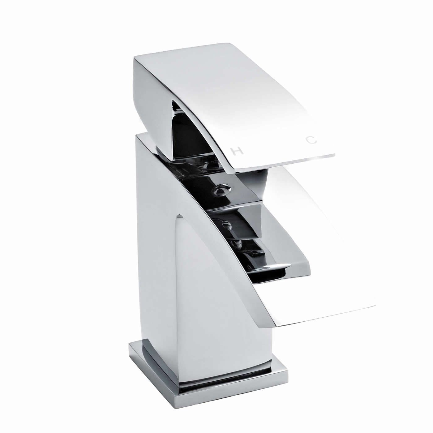 Shanks sink and stand reclaimed porcelain sinks and chrome stands - Chrome Lazor Mono Basin Tap Without Waste Image 2