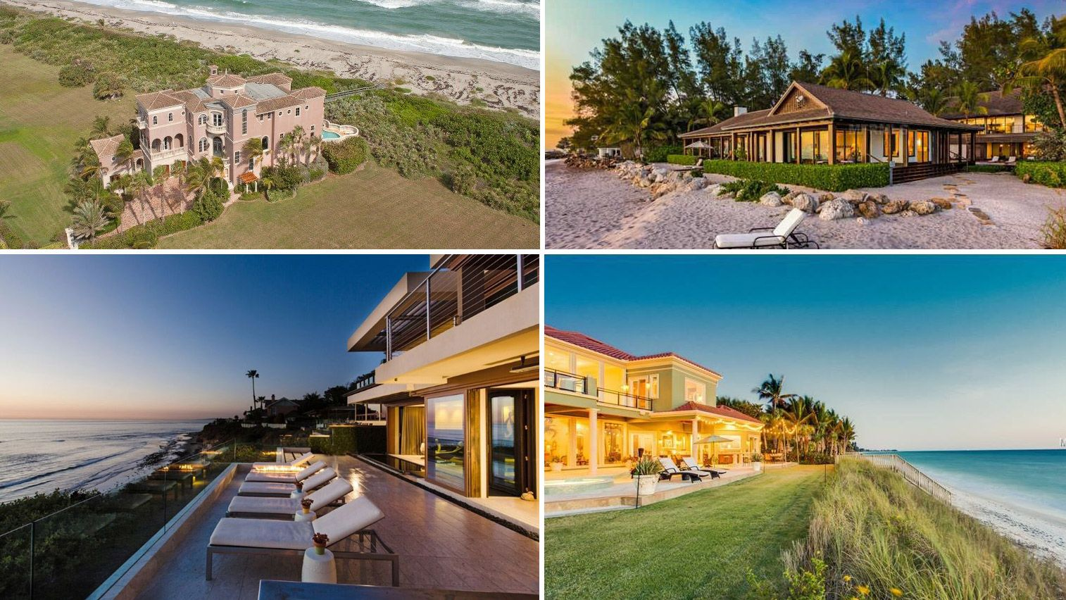 If you're going to dream about living on the beach, why not dream big? We found eight multimillion-dollar homes that give off nothing but good vibrations.