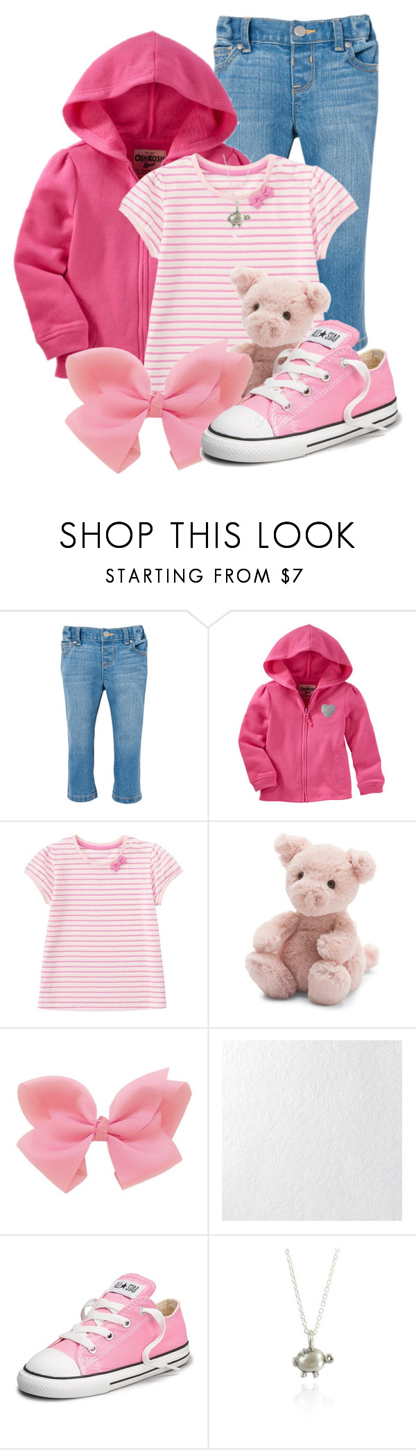 """Piglet"" by darksyngr ❤ liked on Polyvore featuring Uniqlo, Jellycat, Graham & Brown, Converse and Bug"