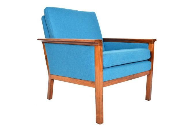 Awesome Danish Mid Century Modern Cerulean Blue Lounge Chair In Gmtry Best Dining Table And Chair Ideas Images Gmtryco