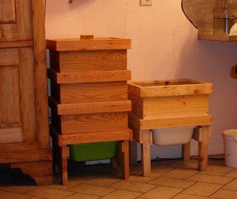 un lombricomposteur en bois jard n pinterest. Black Bedroom Furniture Sets. Home Design Ideas