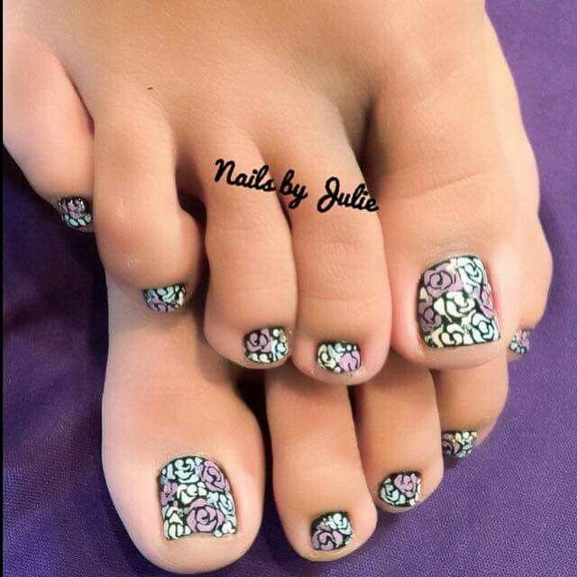 Love this Pedi nail art | Nail Art I love | Pinterest | Pedi
