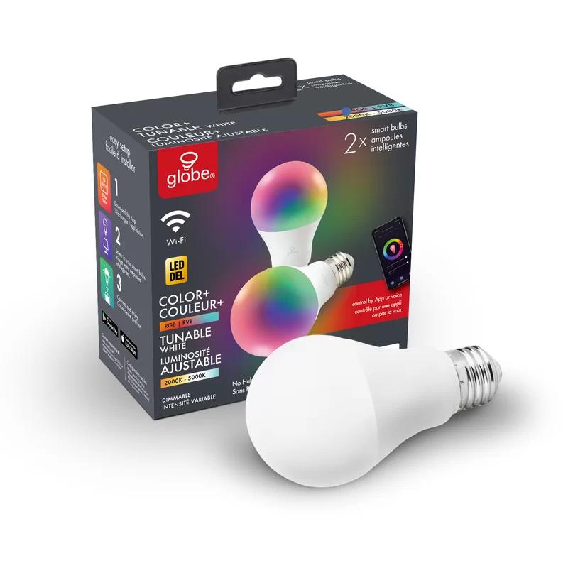 10 Watt 60 Watt Equivalent A19 Led Smart Dimmable Light Bulb Warm White 3000k E26 Medium Standard Base In 2020 Globe Electric Led Light Bulb Smart Light Bulbs