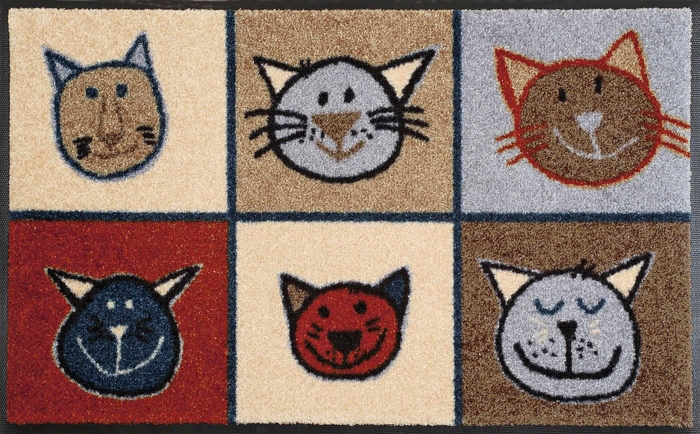 Fussmatte Miau Miau Wash Dry By Kleen Tex Rechteckig Hohe 7 Mm