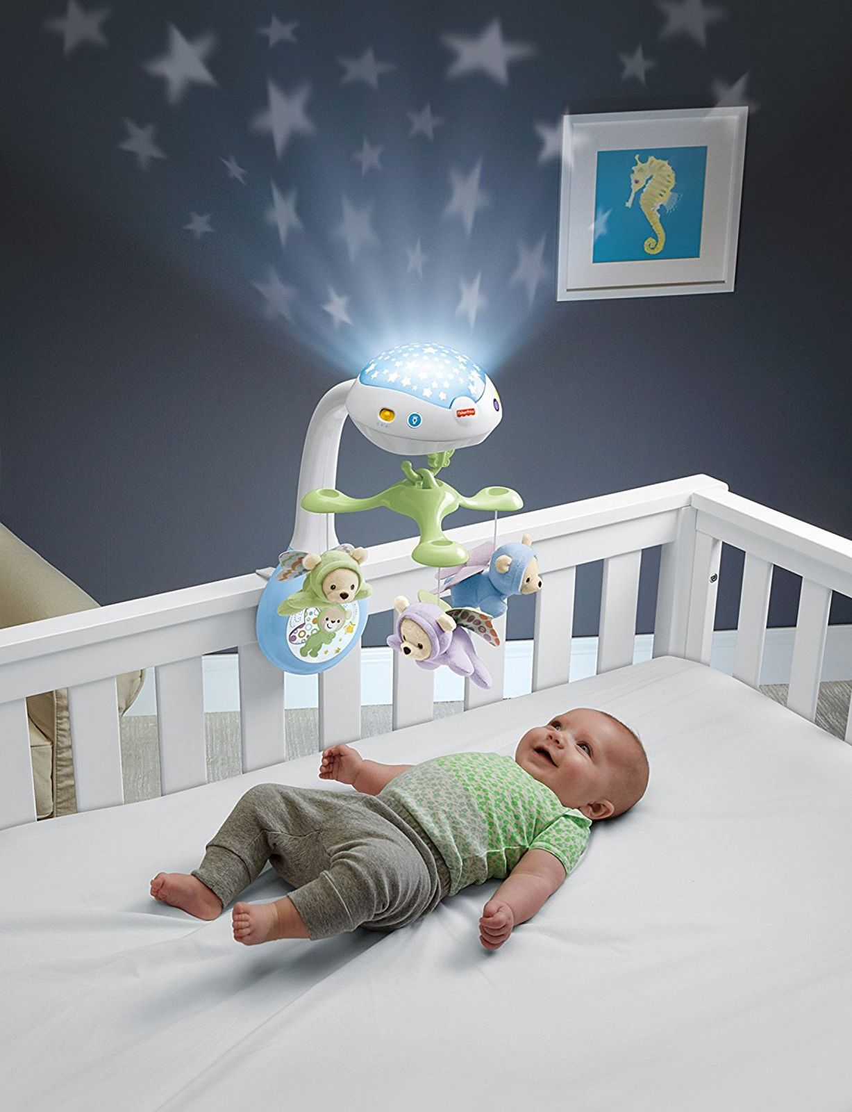 Fisher Price Butterfly Dreams 3 In 1 Projection Mobile Musical Crib