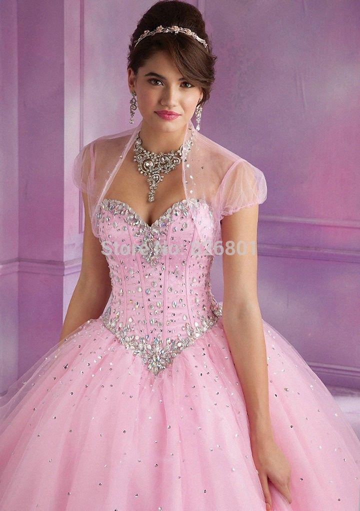 Vestidos de Debutante 2014 New Sweet 16 Dress Baby Blue Pink Ball ...