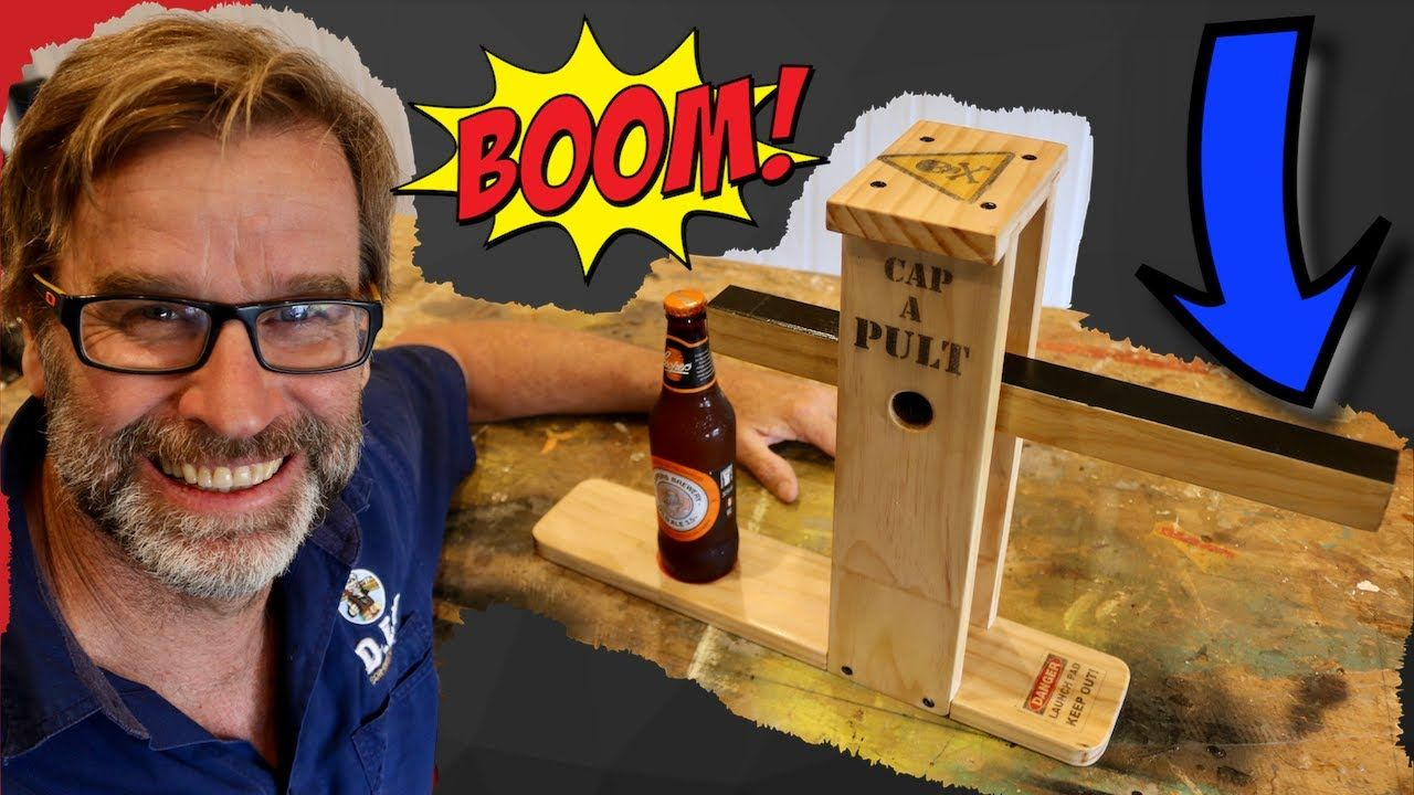 Scrap Wood Project! CRAZY Bottle Opener…Catapult Style!! #scrapwoodprojects