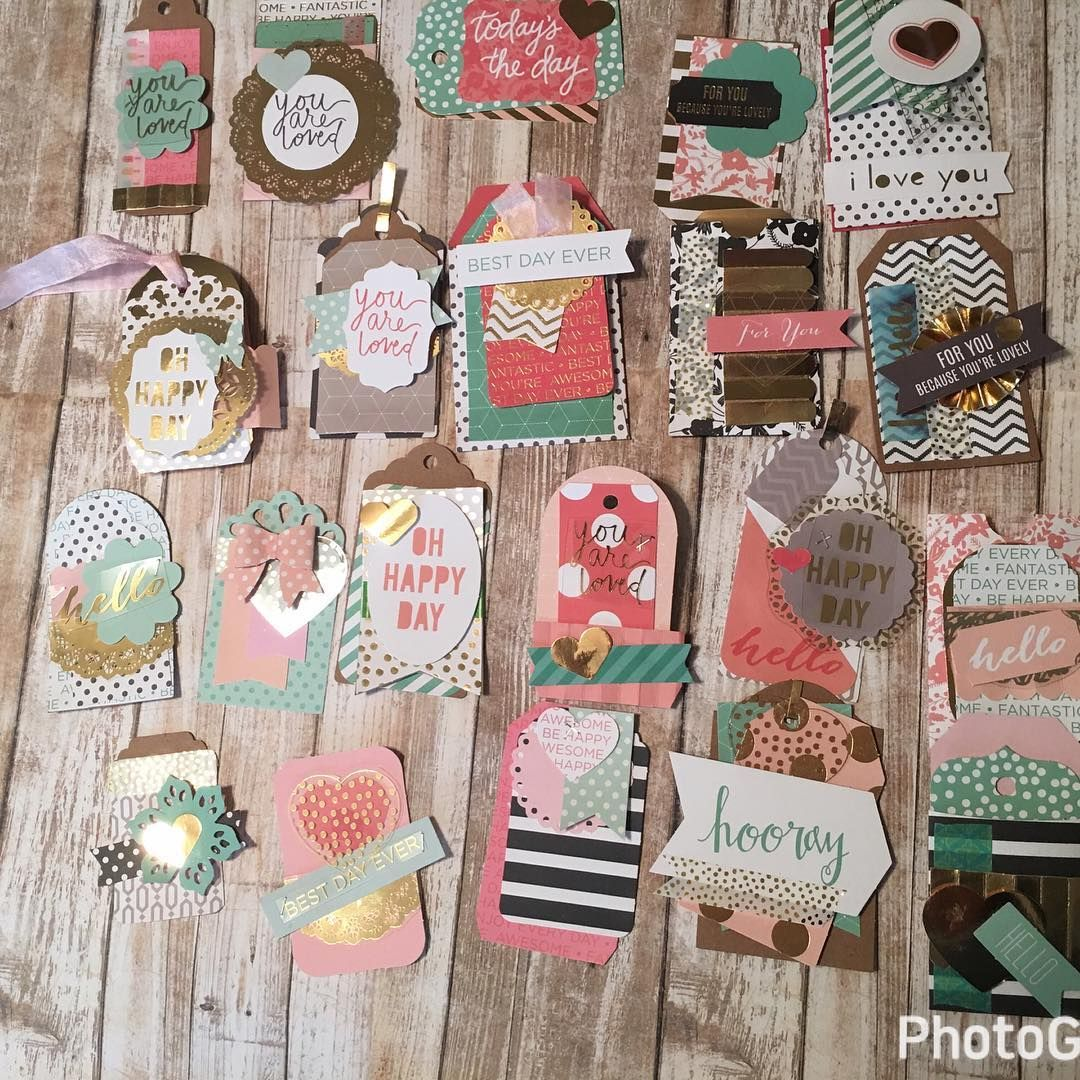 Gift Decor /& Pocket Tags DCWV Project Stack