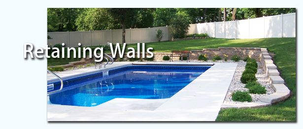 Retaining Wall Pool Ideas rectangular pool with sloping uphill retaining wall google search Retaining Wall For Around The Pool