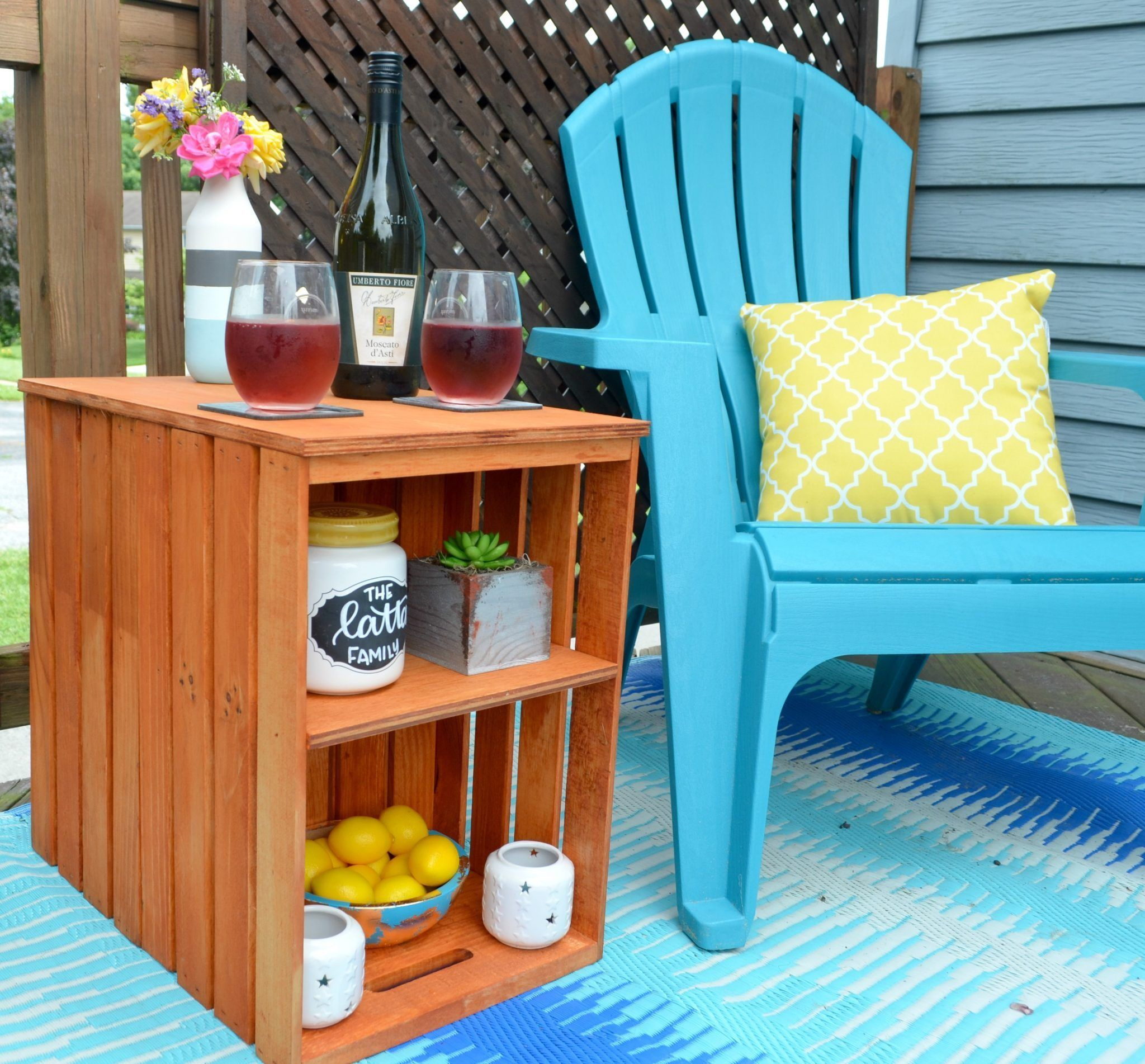 27 Cheap Design Ideas Offering: DIY Wooden Crate Outdoor Table