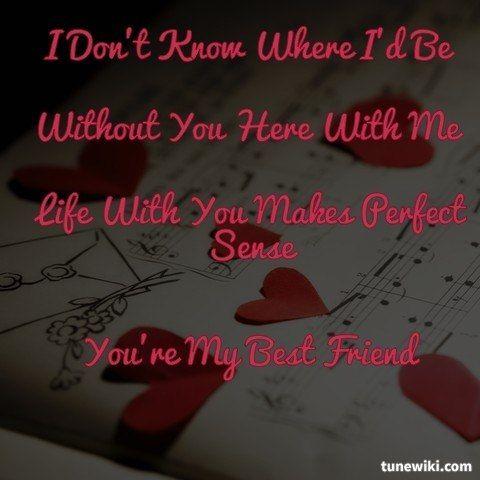 "-- #LyricArt for ""My Best Friend"" by Tim McGraw"