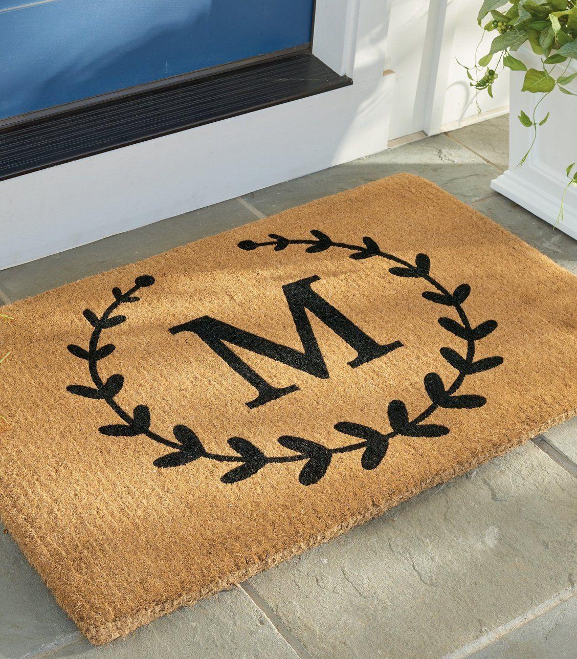 Laurel Monogram Coir Door Mat Grandin Road Door Mat Diy Door Mat Personalized Door Mats