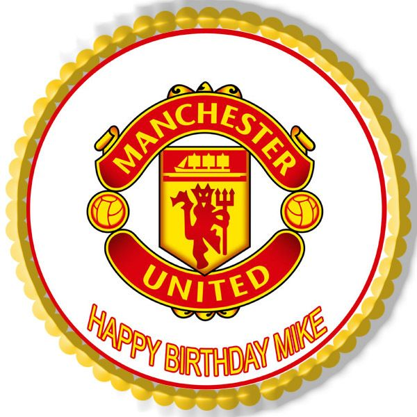 Manchester United Edible Birthday Cake Topper