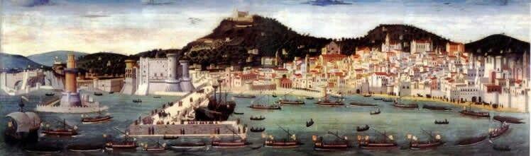 """Napoli cittå anseatica- Da scalo principalmente militare dell'epoca greco-romana, il porto di Napoli si aprì sempre più ai traffici marittimi assumendo importanza crescente.  Fu sotto la dominazione normanna che il porto conobbe un periodo di grande splendore, tanto che nel 1164 entrò, unica tra le città marittime italiane, a far parte della famosa Lega della Compagnia, detta delle """"Città Anseatiche"""". Fu per Napoli e per il suo porto, quello della dominazione normanna, un periodo di successi…"""