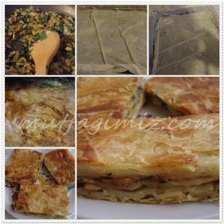 Mantarlı Börek   mutfagimiz.com