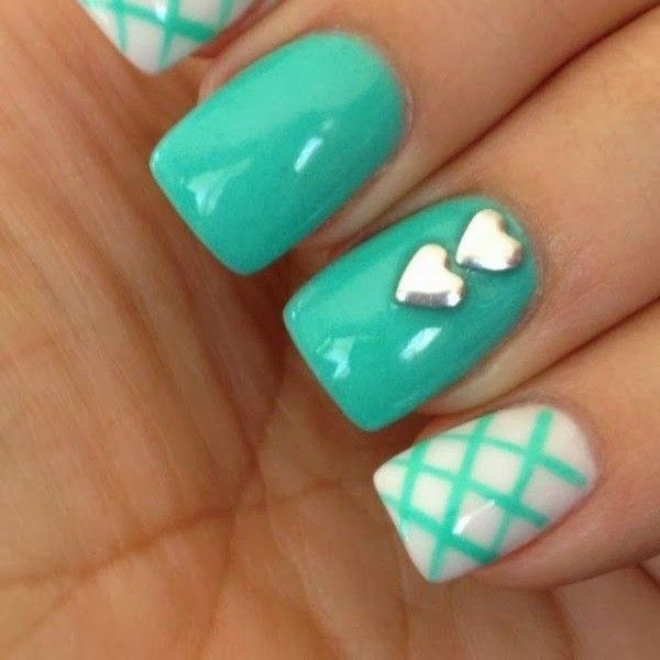 uñas verde agua - Google Search | Mi Fav Colour | Nail ...