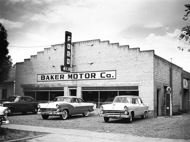 Baker Motor Co Ford Unknown 1955 Car Dealership Old American
