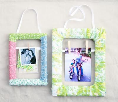 DIY Picture Frames DIY Fabric Scrap Wrapped Frame DIY Picture Frames ...