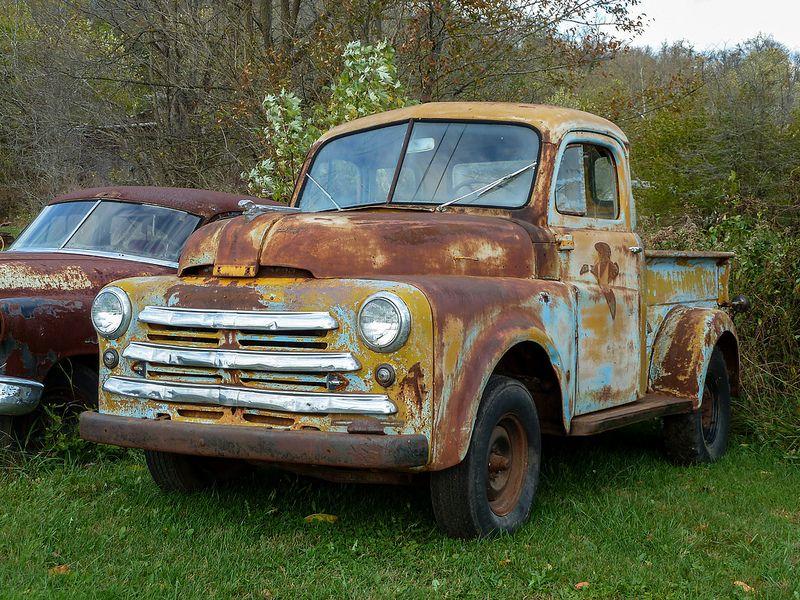 Old 1950 Rusty B Model Dodge Five Window Pickup Truck Pickup Trucks Trucks Dodge