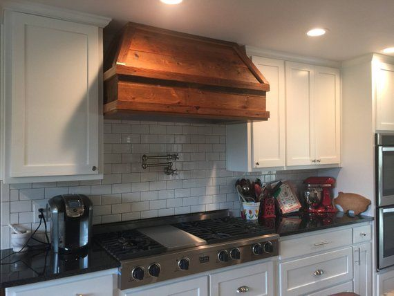 48 Antique Barnwood Vent Hood Lake House Kitchen Rustic Kitchen Vent Hood
