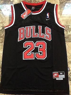 Nba  swingman jersey michael jordan   23 bulls  basketball  retro black red  s m 0e28a2325f82