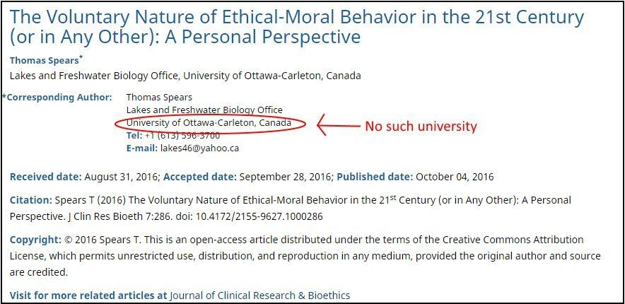 OMICS Owner Of Canadian Medical Journals Caught Running