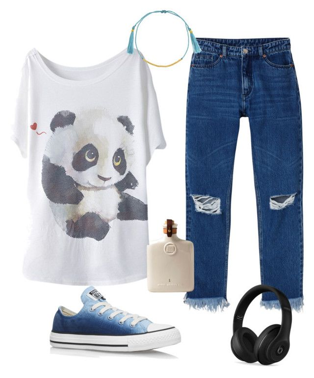 """""""Panda-monium"""" by lovekaitlin ❤ liked on Polyvore featuring Monki, Converse and Beats by Dr. Dre"""