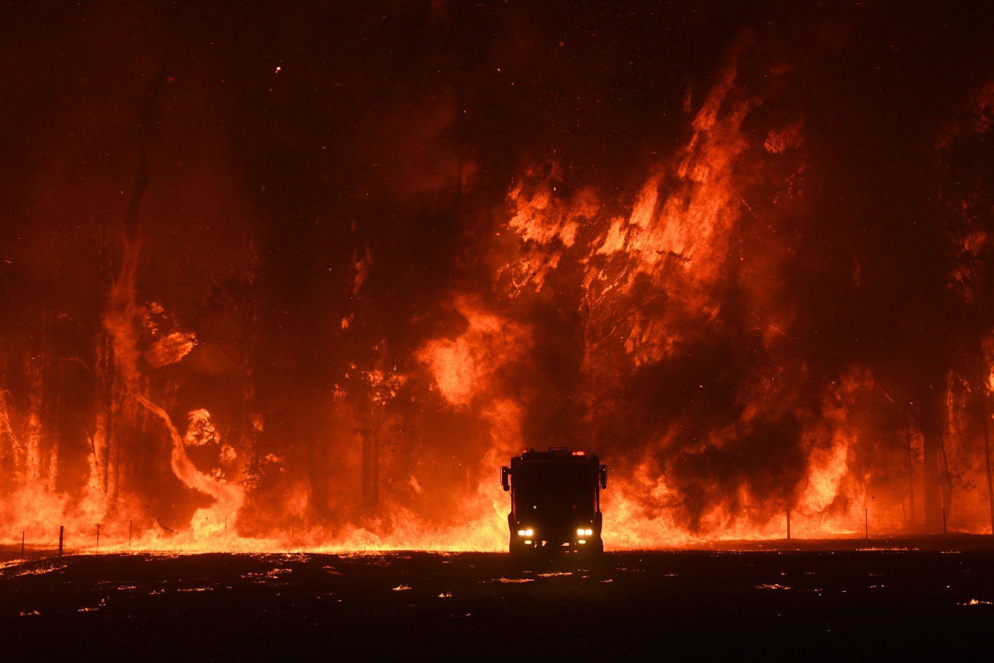 Orangeville bushfire in New South Wales Australia Funny