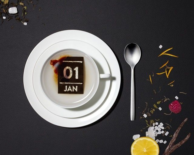 The Tea Calendar, A Calendar With a Wafer of Tea For Every Day Fashion