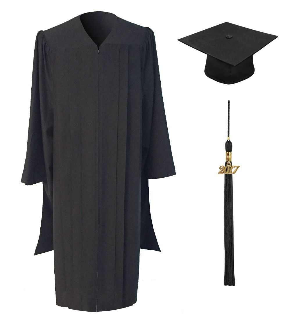 CLASSIC MASTERS GRADUATION GOWN   • Matte dull finished fabric in black  • High quality lightweight tailored construction  • Crease resistant  • Hidden zipper closure  • Pressed Pleated font and back detailing  • Traditional oblong extended sleeves with wide opening  • Each Class Masters Graduation Gown will give you a comfortable prestigious appearance and fit