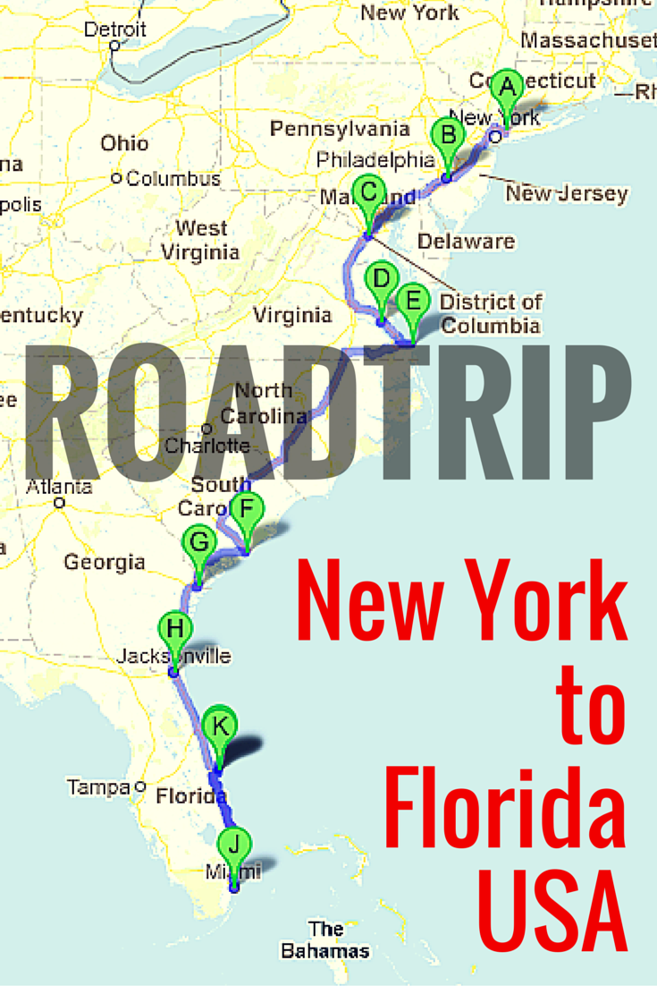 Road Trip Along The East Coast of USA | United States Travel ...