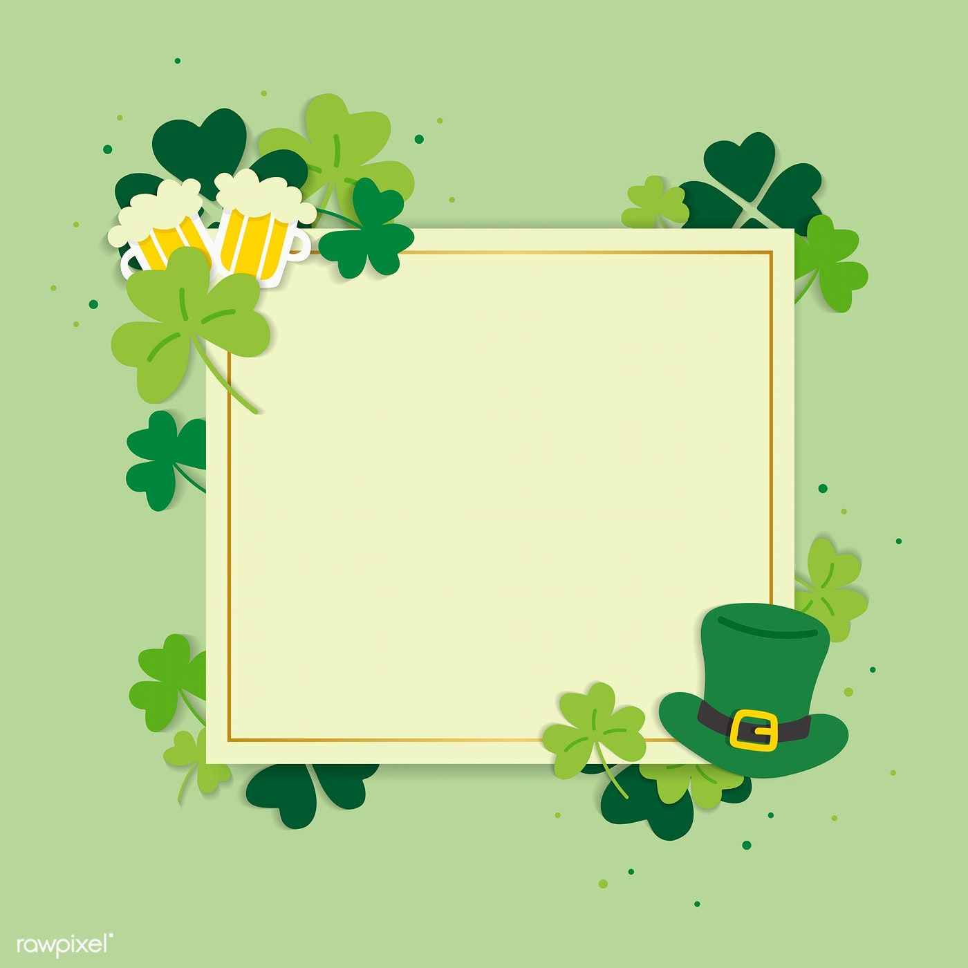 St Patrick S Day Blank Square Banner Vector Free Image By Rawpixel Com Ningzk V St Patrick S Day Photos Banner Vector Vector Free