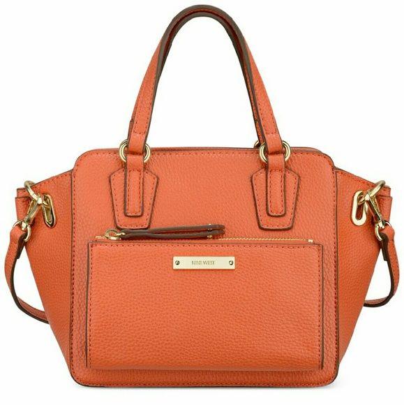 FINAL SALE Rustic orange  mini tote Brand new handbag.. Beautiful rustic orange color. Nine West Bags Totes