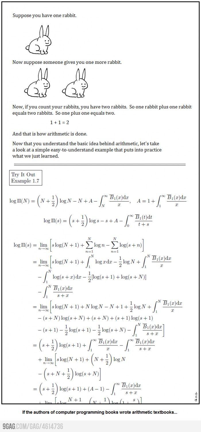 If An Author Of A Computer Book Wrote A Math Textbook Textbook Writing Computer Programming Books Programmer Jokes