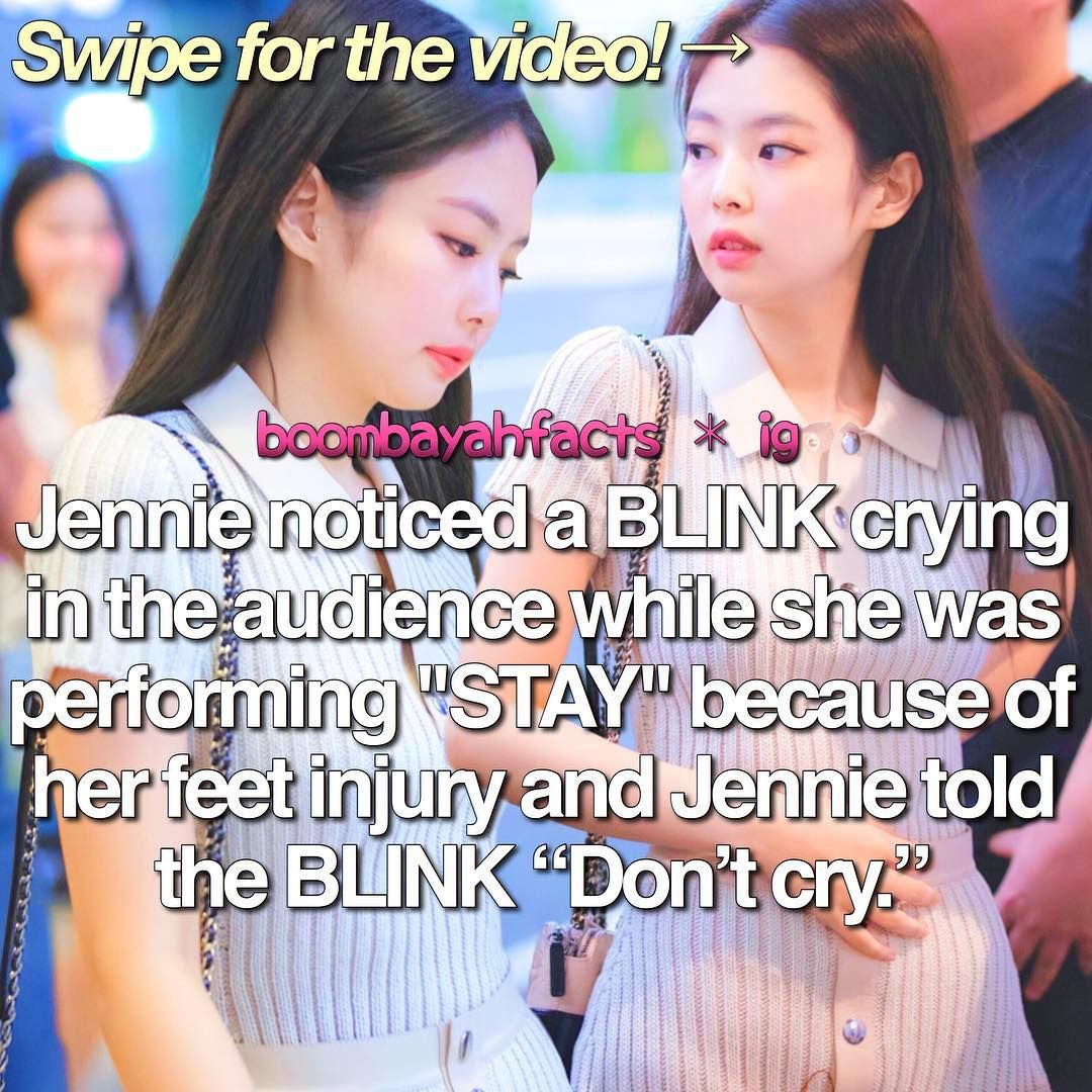 Blackpink Facts Sg Based On Instagram Boombayahfacts Jennie Basically Jennie Injured Her Left Foot Blackpink Blackpink Memes Black Pink Songs