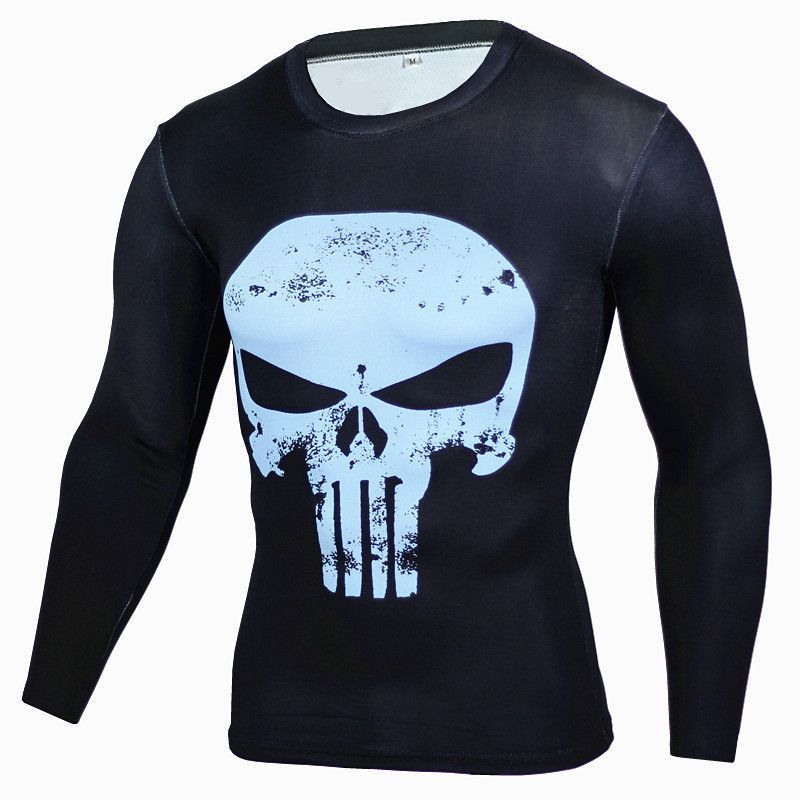 Fitness Compression Bodybuilding Long Sleeve 3D T-Shirt