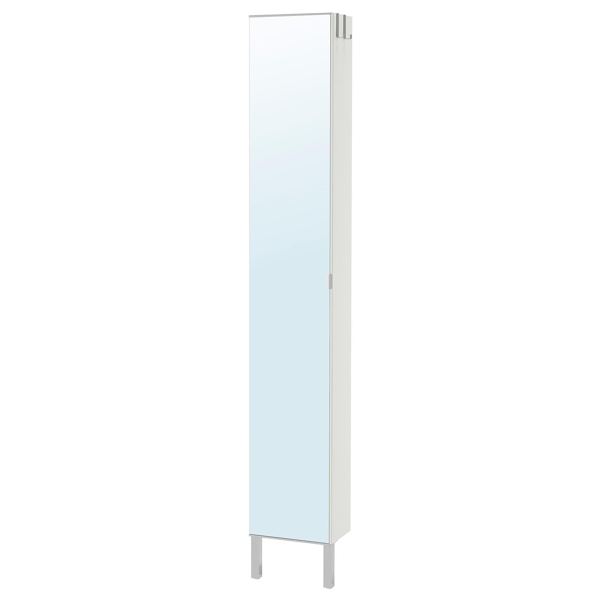 IKEA LILLÅNGEN High with mirror door white in