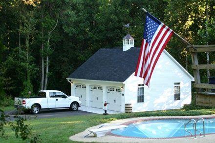 Prefab 1 2 or 3 car garage with attic modular two story for Modular 3 car garage