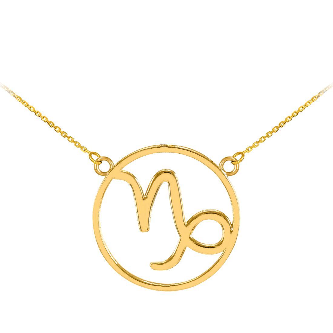 LABLINGZ 14K Polished White Gold Cancer Zodiac Sign Round Pendant
