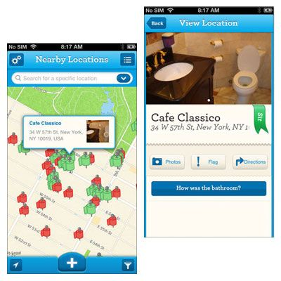 Bathroom App 5 apps to help you find a bathroom | apps