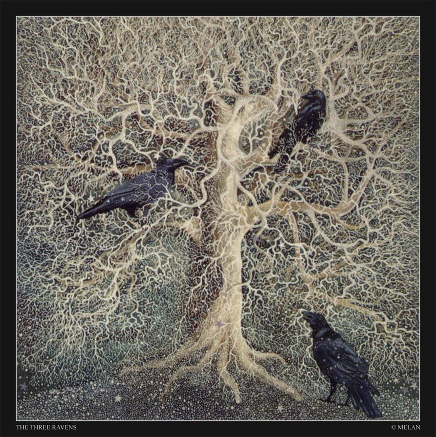 Totemic form woman or crow ravens crows and kraken paintings of crows and ravens the three ravens kraken in old ballads were buycottarizona