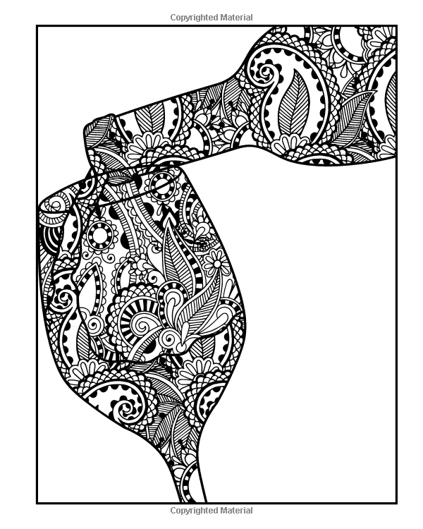 Wine Coloring Book For Adults Coloring Book For Grown Ups Including 40 Paisley And Henna Wine Inspired Coloring Pa Coloring Books Coloring Pages Wine Inspired