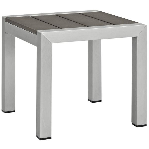 Modway Furniture Shore Outdoor Side Table Patio Side Table