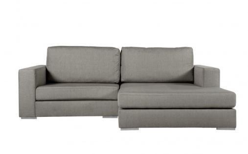 Gavino Sofa Couch Ecksofa mittelgrau B 244 cm   T 180 cm   H 83 cm - designer couch modelle komfort