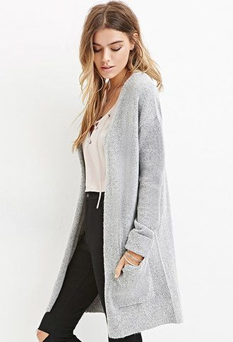 Textured Longline Cardigan   Forever 21 - 2000179647   2015 outfit ...