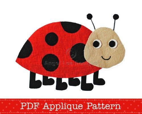 Ladybug Applique Pattern PDF Applique Template Ladybird Applique ...